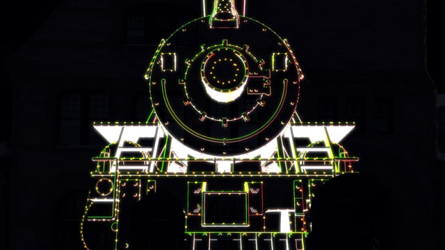 Alt Ethos Projection Mapping train